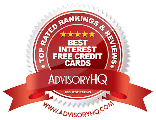 Best Interest Free Credit Cards Red Award Emblem