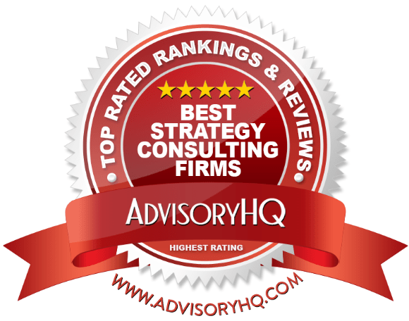 Best Strategy Consulting Firms Red Award Emblem