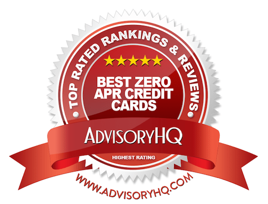 Red Award Emblem for Best Zero APR Credit Cards