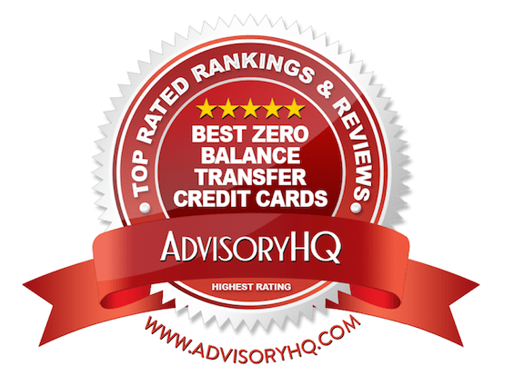 Red Award Emblem for Best Zero Balance Transfer Credit Cards