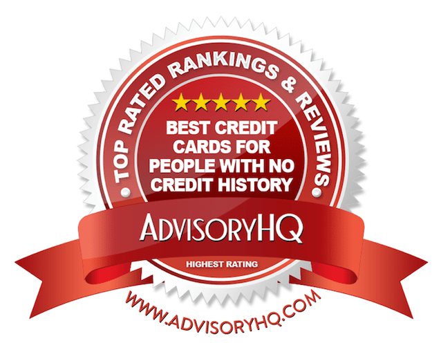 Best Credit Cards for People With No Credit History Red Award Emblem