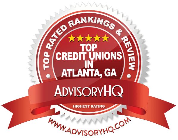Top Credit Unions in Atlanta, GA Red Award Emblem