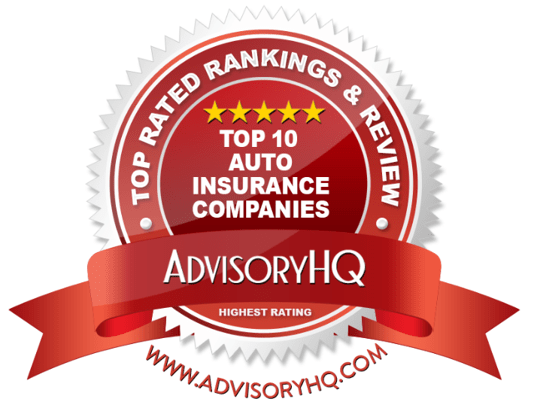 Top Auto Insurance Companies Red Award Emblem