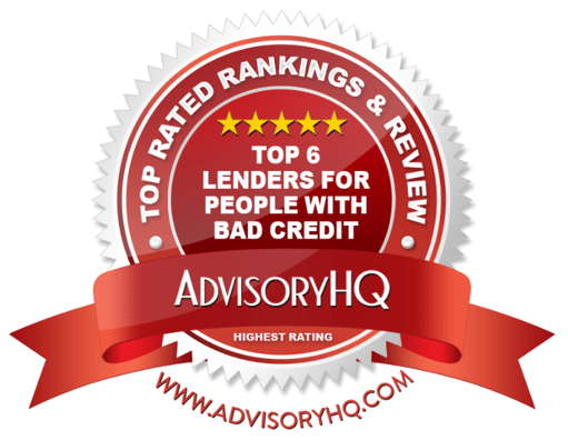 Top Lenders for People with Bad Credit Red Award Emblem