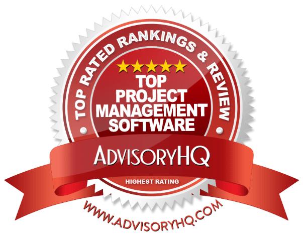 Top Project Management Software Red Award Emblem