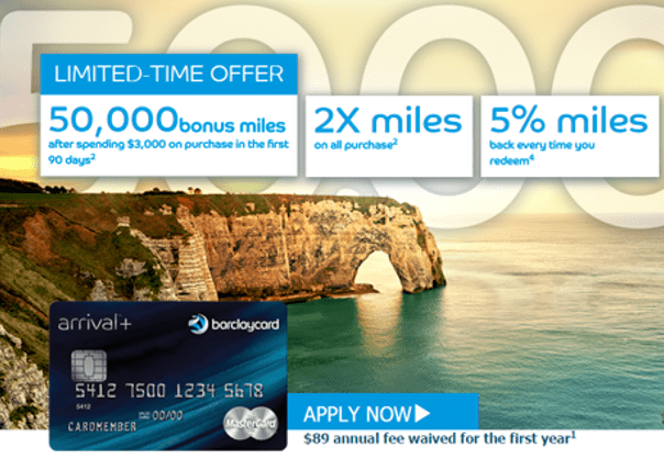 Barclaycard Arrival Plus™ World Elite MasterCard® - best credit cards for miles