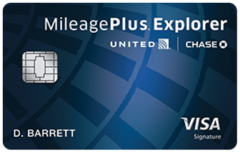 Chase United MileagePlus® Explorer Card - best credit card for travel miles