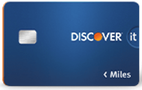 Discover it® Miles Card - top travel credit cards
