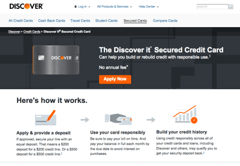 Discover it® Secured Credit Card - build credit fast