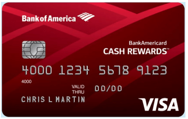 BankAmericard Cash Rewards™ for Students - college credit cards