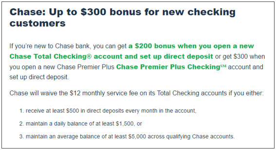 bank of america open a checking account offer