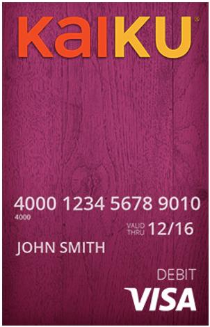 kaiku prepaid bank cards