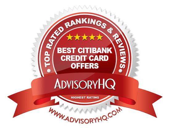 Best Citibank Credit Card Offers Red Award Emblem
