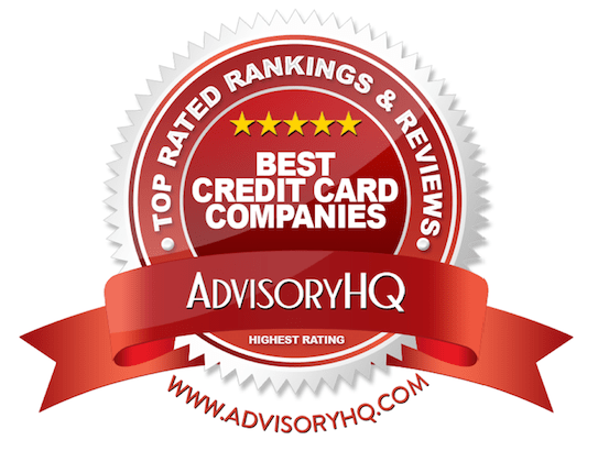 Best Credit Card Companies Red Award Emblem