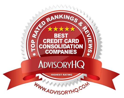 Best Credit Card Consolidation Companies Red Award Emblem