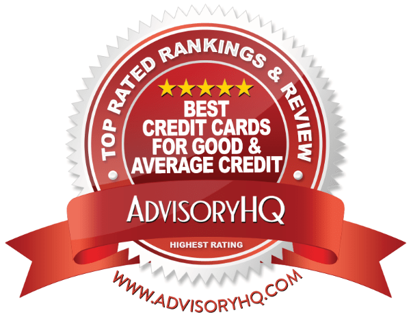 Best Credit Cards For Good & Average Credit Red Award Emblem