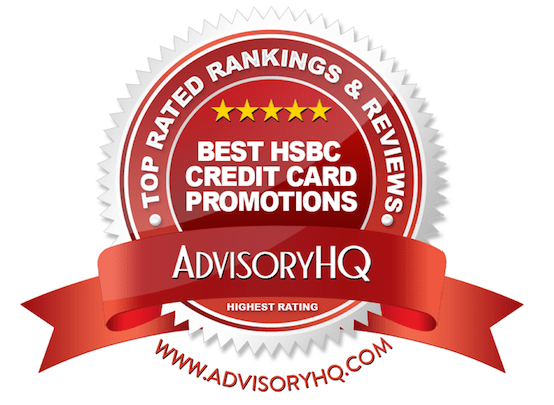 Best HSBC Credit Card Promotions Red Award Emblem