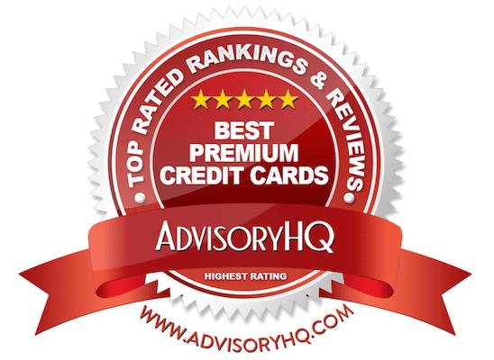best premium credit cards red award emblem
