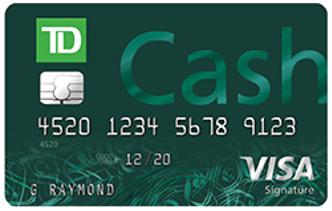 td cash credit card