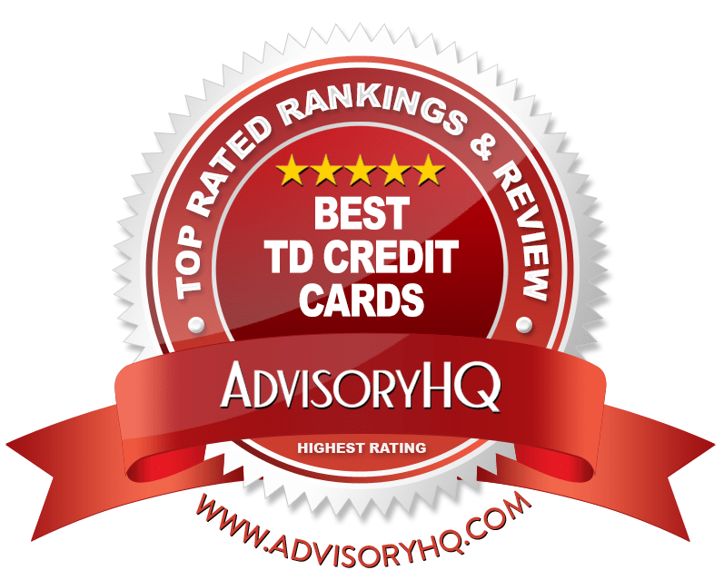 Best TD Credit Cards Red Award Emblem