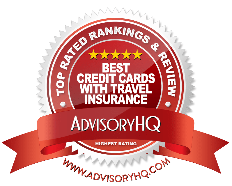 Best Credit Cards with Travel Insurance Red Award Emblem