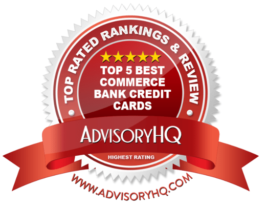 Best Commerce Bank Credit Cards Red Award Emblem