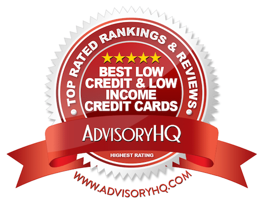 Best Low Credit & Low Income Credit Cards Red Award Emblem