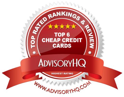 Top Cheap Credit Cards Red Award Emblem