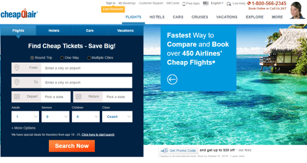 Top 6 best airfare sites ranking best airline booking for Best travel booking sites