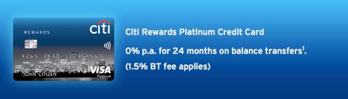 Citi Rewards Platinum Card - credit cards in australia