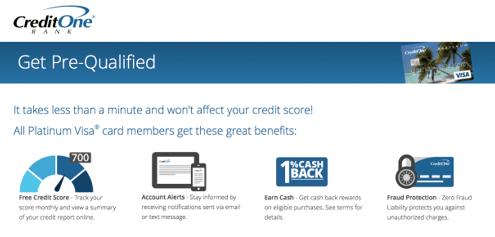 Credit One Bank® Unsecured Visa® Credit Card - Top Unsecured Credit Cards for Bad & Poor Credit with No Deposit