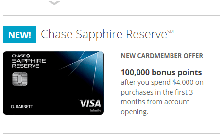 Chase Sapphire Reserve black card benefits