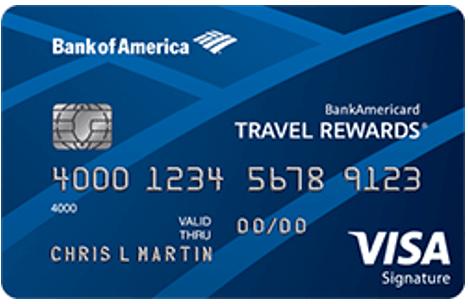 BankAmericard Travel Rewards® Credit Card - best visa cards