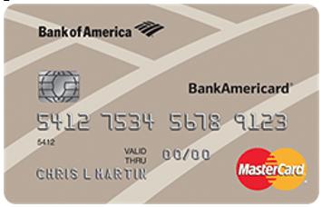 BankAmericard® Secured Credit Card - best credit cards for low credit