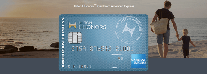Hilton Honors credit card reward points