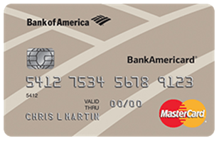 BankAmericard® Credit Card - credit cards for people with average credit