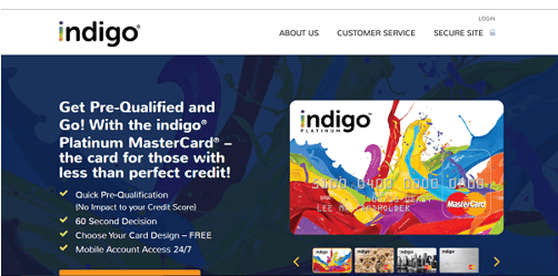 Indigo® Platinum MasterCard® - Unsecured credit cards for people with bad credit