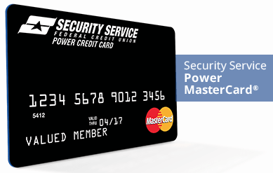 Security Service Power MasterCard® - military travel card