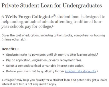 Wells Fargo - best student loan company
