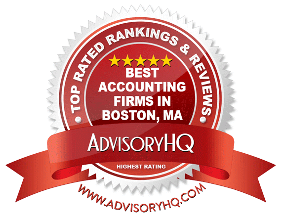 Best Accounting Firms in Boston, MA Red Award Emblem