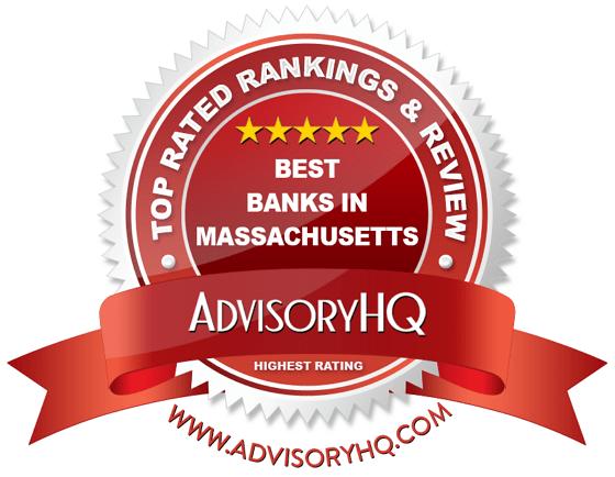 Best Banks in Massachusetts Red Award Emblem