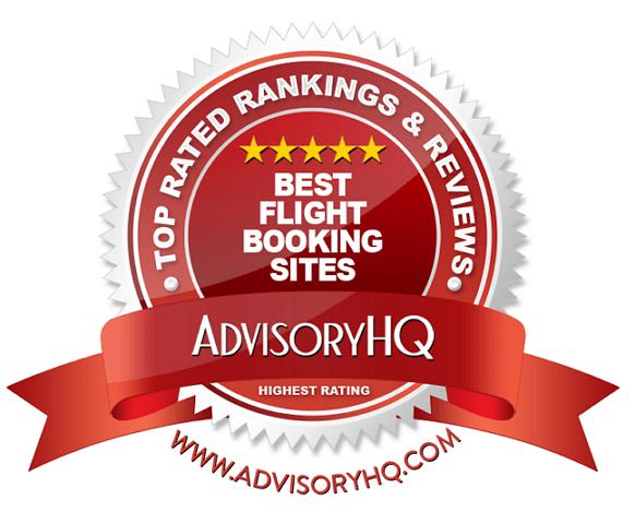 Best Flight Booking Sites Red Award Emblem