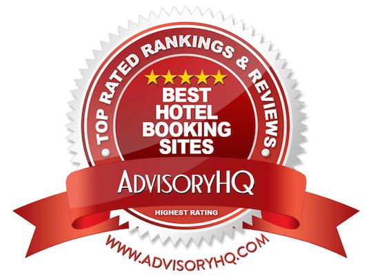 Best Hotel Booking Sites Red Award Emblem