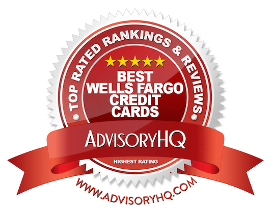 Best Wells Fargo Credit Cards Red Award Emblem