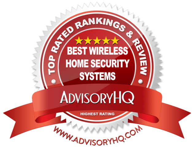 Best Wireless Home Security System Red Award Emblem