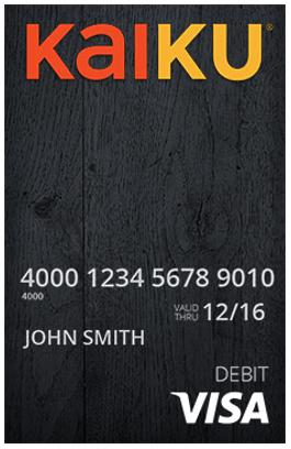 Kaiku Visa®Prepaid Card