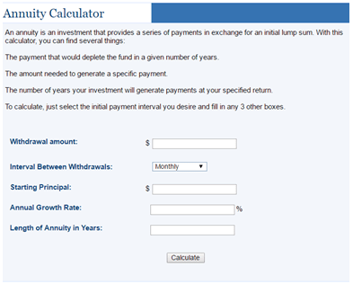 annuity investment calculator annuity calculator free for excel