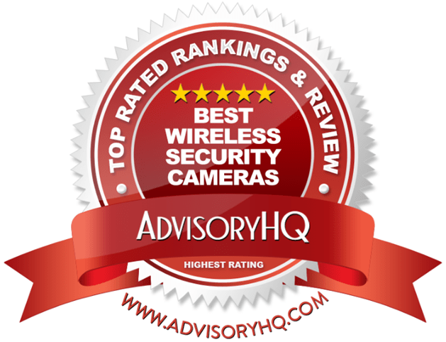 Best Wireless Security Cameras Red Award Emblem