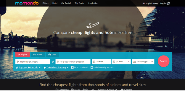 It Searches Over 600 Diffe Airlines Travel Agencies Search Engines And Similar Flight Booking Sites To Find The Best Possible Deals