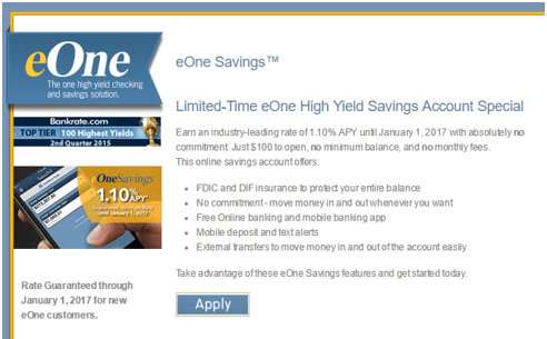 high yield savings account